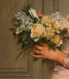 'The Note (Le Billet)' (detail), 1883, by Auguste Toulmouche (French, 1829-1890)