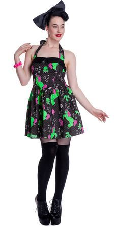 Hell Bunny I Heart Zombie Dress Front - Suicide Glam Australia