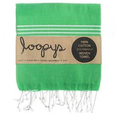 Apple Green Original Turkish Towel.  Premium Quality, Made by Loopys