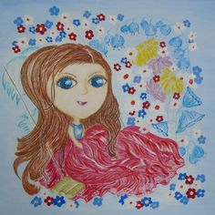 Alice - fairy for happiess reproduction - aquarelle paper USD 30,00 + packing and postage format 20x20cm