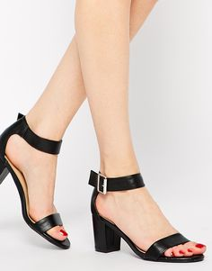 Image 4 of New Look Quota Black Mid Heeled Sandals