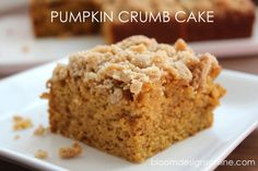 Pumpkin Crumb Cake--super moist and delicious!