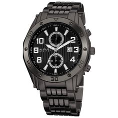 Swiss Multi-Function Black Dial and Bracelet Men's Watch
