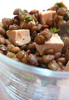 Lentilles au foie gras : recette de lentilles au foie gras, foie gras pour Noël - Repas de Noel : recette repas Noel, menu noel à l'avance
