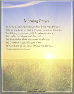 Prayers - Morning Prayer by Catholic Shopping .com | Catholic Shopping .com FREE Digital Download PDF