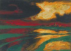 EMIL NOLDE Autumn Evening (1924)