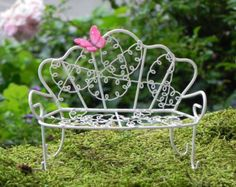 Fairy Bed furniture Day Bed miniature by TheLittleHedgerow on Etsy