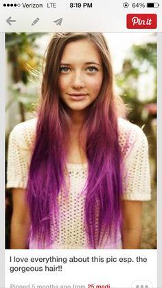 Dip dye purple!!