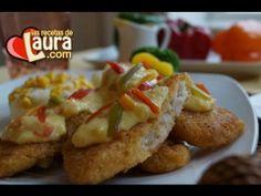 ▶ Crema Light de Pimiento para bañar filete de pescado Las Recetas de Laura Recetas Light Fish fillet - YouTube