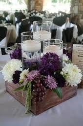 Resultado de imagen para purple wooden centerpiece