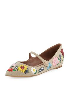 TABITHA SIMMONS Hermione Meadow Mary Jane Flat, Natural. #tabithasimmons #shoes #flats