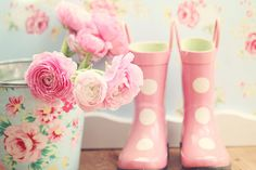 flowers and wellies by lucia and mapp, via Flickr