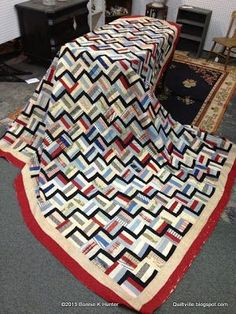 Quiltville's Quips & Snips, rail fence with black to make zig zag