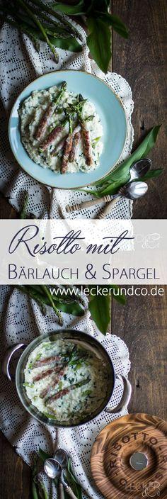 Bärlauch Risotto mit Bacon-Spargel