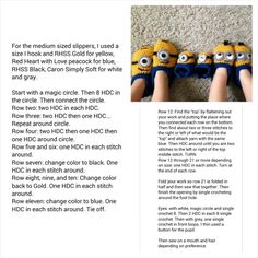 Crochet minion slippers (not my pattern)