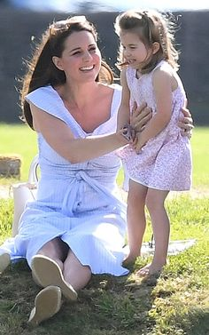 Family day out: Prince William was playing at the Beaufort Polo Club while his family looked on