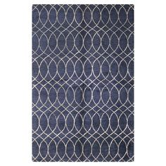 Anchor a neutral seating group in the den or add a pop of pattern to your master suite with this wool and art silk rug, featuring a geometric motif. Navy Rug, Navy Blue Area Rug, Blue Area Rugs, Elegant Home Decor, Elegant Homes, Trellis Pattern, Hand Tufted Rugs, Joss And Main, Home Decor Inspiration