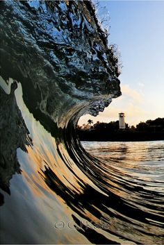 """""""I feel closest to God when I'm in the surf, so seeing the church at the end of the wave is fitting."""" ~ Cj Kale"""
