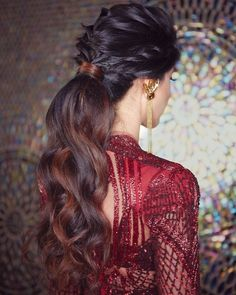 10 Modern & Rad Party Wear Hairstyles You Need to See Today! – 10 Modern & Rad … 10 Modern & Rad Party Wear Hairstyles You Need to See Today! – 10 Modern & Rad Party Wear Hairstyles You Need to See Today! Indian Party Hairstyles, Bridal Hairstyle Indian Wedding, Hairstyles For Gowns, Saree Hairstyles, Pony Hairstyles, Bridal Hair Buns, Bride Hairstyles, Wedding Hairdos, Party Hairstyles For Long Hair