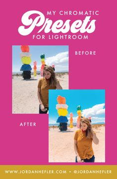 """Edit your photos with a chromatic flair! The """"My Chromatic Presets"""" pack includes 5 color presets + 2 black and white presets for Lightroom, ranging from normalized to retro tones. Lightroom Before And After, Edit Your Photos, Do What You Want, Helping People, Social Media, Black And White, Retro, Learning, Color"""
