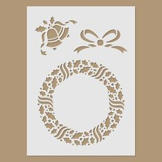 Christmas wreath Stencil by StencilDirect on Etsy, £3.95
