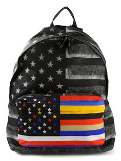 GIVENCHY Striped And Star Print Backpack