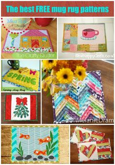 The BEST free mug rugs patterns.  More than 40 free patterns for mug rugs, including seasonal and shaped ones.