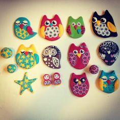 Some Fimo owls...