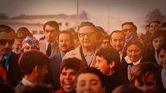 Salvador Allende, junto a su pueblo.