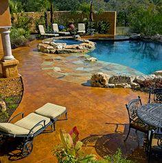 Texas tuscan decor | texas tuscan model home water features pool decks san antonio tx ...