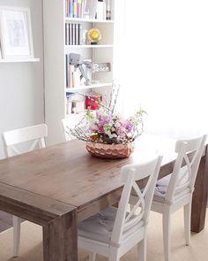 Getting ready for Sunday! Easter flower arrangement all done ;) #easter #interiordesign #myhomesense #structube #hamburgtable #ikeacanada #instahome