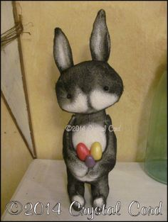 Whimsical Bunny Rabbit and egg doll Spring Country by emsprims, $30.00