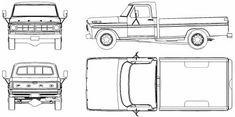 Blueprints > Cars > Ford > Ford Pick-up 79 Ford Truck, F150 Truck, Ford Pickup Trucks, 4x4 Trucks, Car Ford, Pick Up Ford, Truck Coloring Pages, Car Sketch, Car Drawings