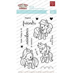 The Greeting Farm MAGICAL FRIENDS Clear Stamps TGF225 Preview Image
