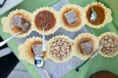 honey and almonds