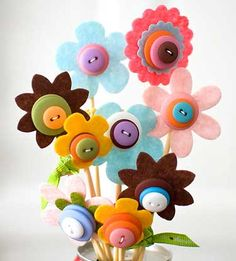 a bunch of flowers - DIY for children