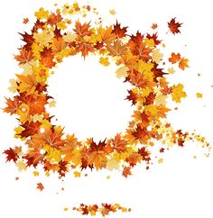 Fall PNG Round Vector Frame