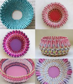 pictures of paper jewelry | folded paper baskets | Simone Leblanc