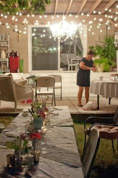 Domestic Fashionista: A Pink Backyard Birthday-curtains around posts and outdoor lights good way to spruce up back patio Back Patio, Backyard Patio, Backyard Ideas, Patio Ideas, Rearranging Furniture, Backyard Birthday, Patio Curtains, Patio Lighting, Sweet Home