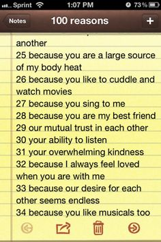 101 reasons why i love you list for him