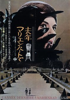 last year at marienbad,1964, Japanese movie poster. Chanel did the wardrobe of the actresses