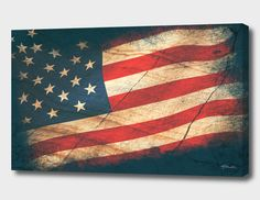 Flag Design, Design Art, Memorial Day Poppies, American Flag Painting, Paint And Sip, Poster Ideas, Custom Wall, Creative Thinking, Whimsical Art