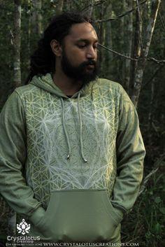 SAGE Flower of Life Men's Hoodie / Mandala Hoodie, Mandala Sweatshirt, Sacred Geometry Hoodie, Mens tribal hoodie