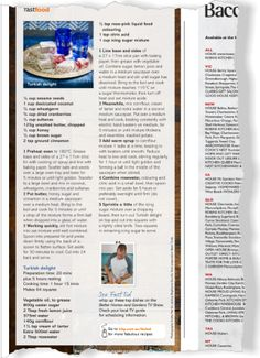Baccarat / Fast food. Clipped from Better Homes and Gardens using Netpage.