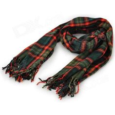 Color: Dark Green + Red; Quantity: 1 Piece; Material: Cotton; Gender: Women; Suitable for: Adults; Pattern: Plaid; Scarf Length: 210 cm; Scarf Width: 60 cm; Packing List: 1 x Scarf; http://j.mp/1ljOVIi