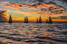 Regata Notura near Port Alegre Brasil  Photo sent to us by  @fabianobenedetti by sailing_boats