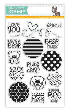 *Simon Says Clear Stamps CIRCLE FRIENDS sss101309 - bjl