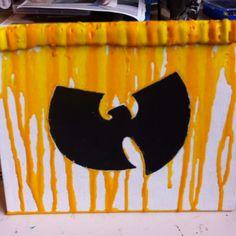 wu tang clan fan art: melted crayon by amber mason