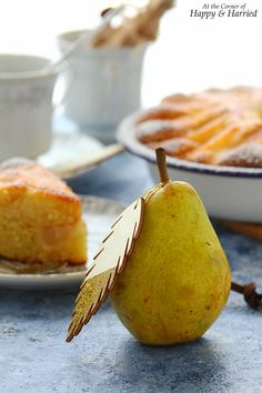 A rustic yogurt cake topped with sweet, soft pears and a dusting of cinnamon sugar is worthy of both your dessert and breakfast tables. Pear Dessert Recipes, Pear Recipes, Yogurt Recipes, Italian Desserts, Cake Recipes, Pear Yogurt, Yogurt Cake, Breakfast Tables, Pear Cake