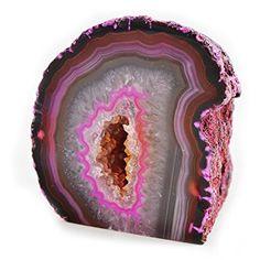 <3 <3 <3 Love love love this pretty pink Agate Geode  <3 <3 <3 <3 <3 <3 <3 <3 <3 (affiliate)